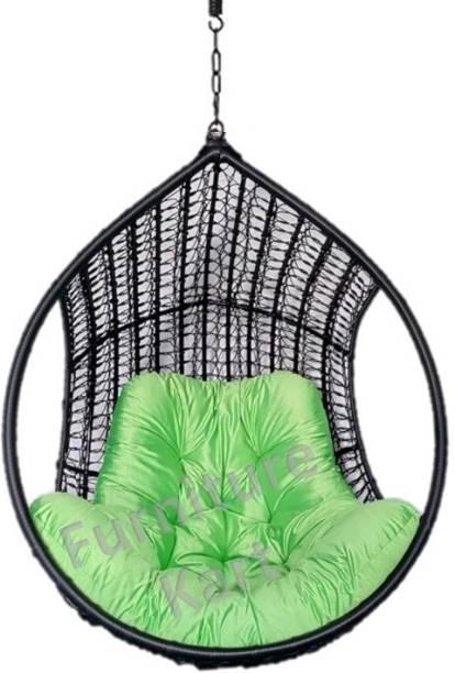 Furniture kart Hammock Swing Chair Black & Green Iron Hammock