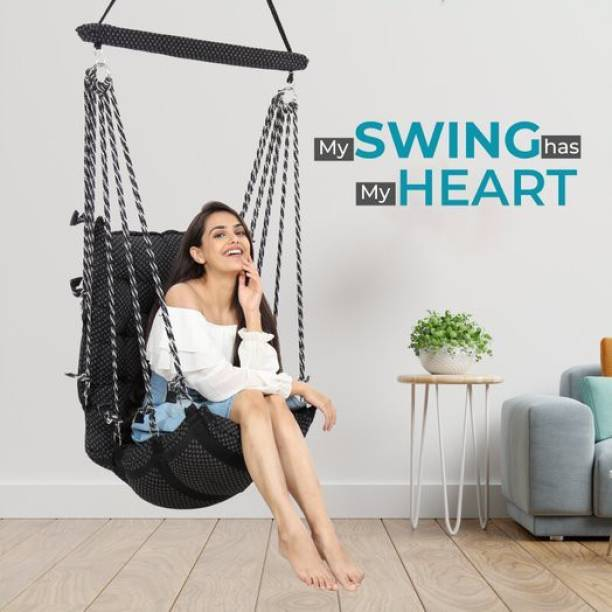 Smart Beans Swing Jhula for Indoor, outdoor Home Cotton Large Swing