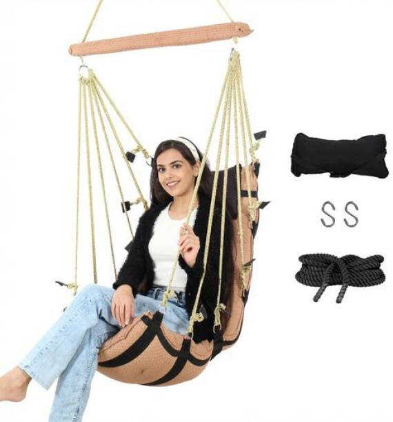 Smart Beans Hanging Swing Jhula for adults Cotton Large Swing