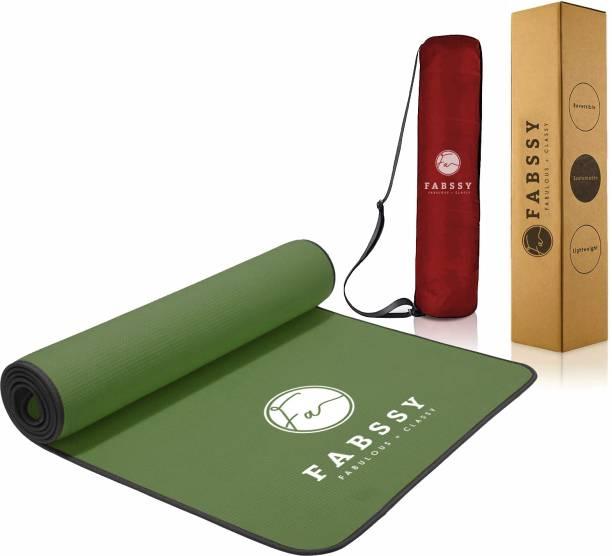 Fabssy 6mm Anti Skid EVA+TPE Tearless Yoga Mat with Transparent Bag for Men & Women Black, Green 6mm mm Yoga Mat