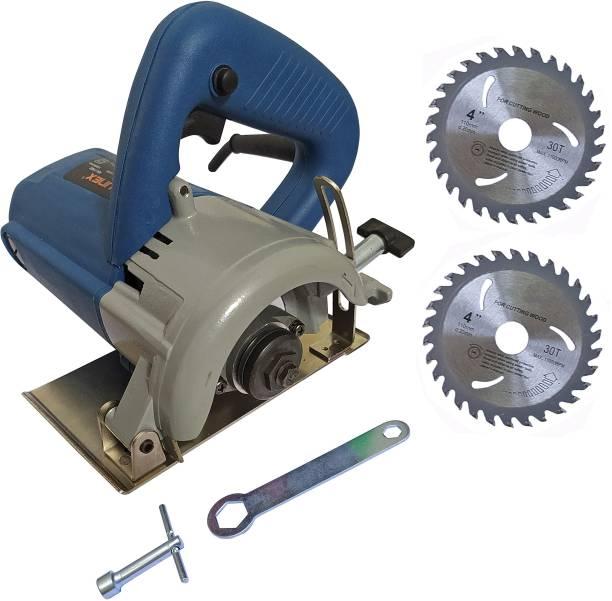 DUMDAAR 110mm Marble cutting machine Tile Stone Wood cutting machine with 2pc Wood cutting blade Manual Cutter