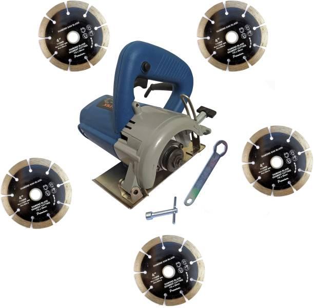 DUMDAAR 110mm Marble cutting machine Tile Stone Wood cutting machine with 5pc Marble cutting blade Handheld Tile Cutter