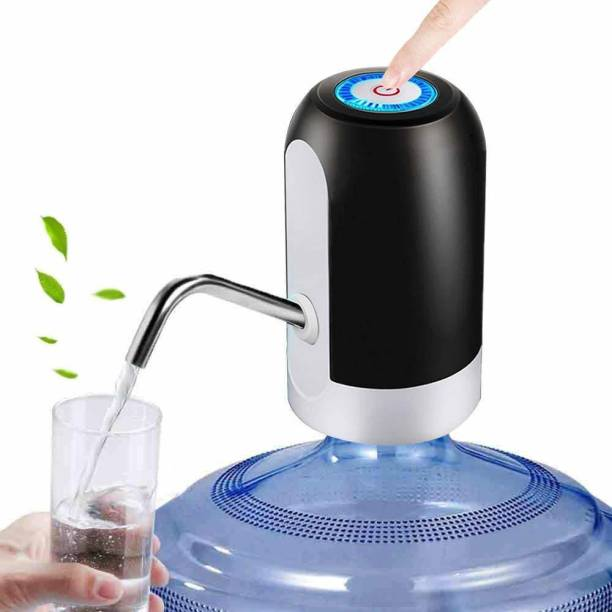 USBDISPENSER Fast Charge Automatic Water Bottle Dispenser Pump for 20 Litre Bottle/One Touch Wireless Portable & Rechargeable Water can Pump Dispenser with USB Cable for Home and Office Bottom Loading Water Dispenser