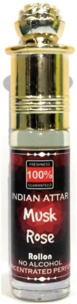 INDRA SUGANDH Attar Musk Rose 6ml Good Combination of Kasturi and Rose Attar ~ Long Lasting Fragrance Herbal Attar
