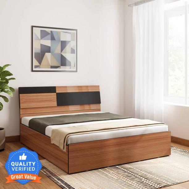 Bharat Lifestyle Rome Exotic teak Engineered Wood Queen Box Bed