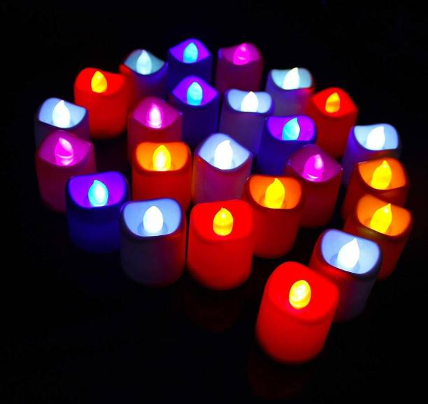 MEVLY Multicolour Tealight Candle Battery Operated Candle