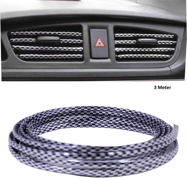 Love Me Car-Styling Interior Grille Air Vent Car Door Beading Roll (3 meter) Glossy Universal For Car Universal For Car Rear Garnish
