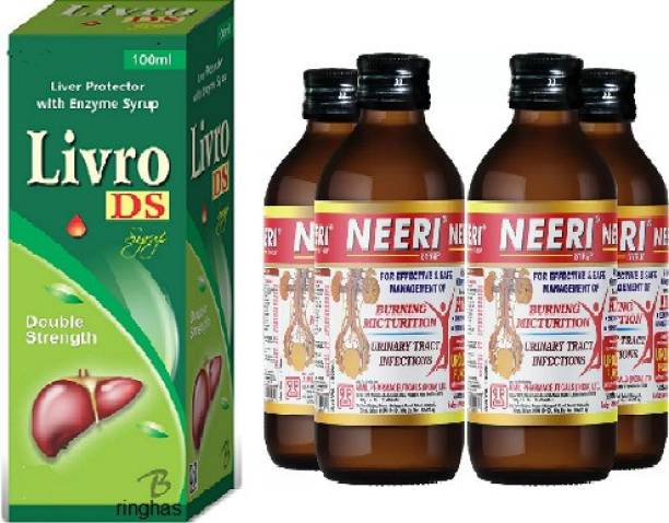 RINGHAS PCI Livro DS Syrup 100ml + NEERI Syrup for Kidney Health (Pack of 4) 200ml