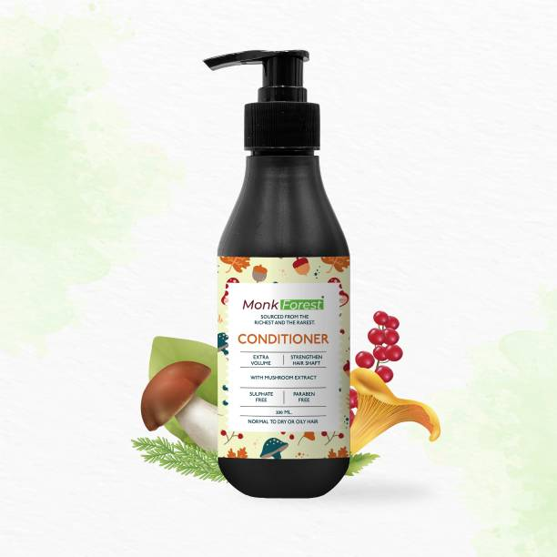 Monk Forest Sulphate Free, Paraben Free Mushroom Hair Conditioner for Hair Protection