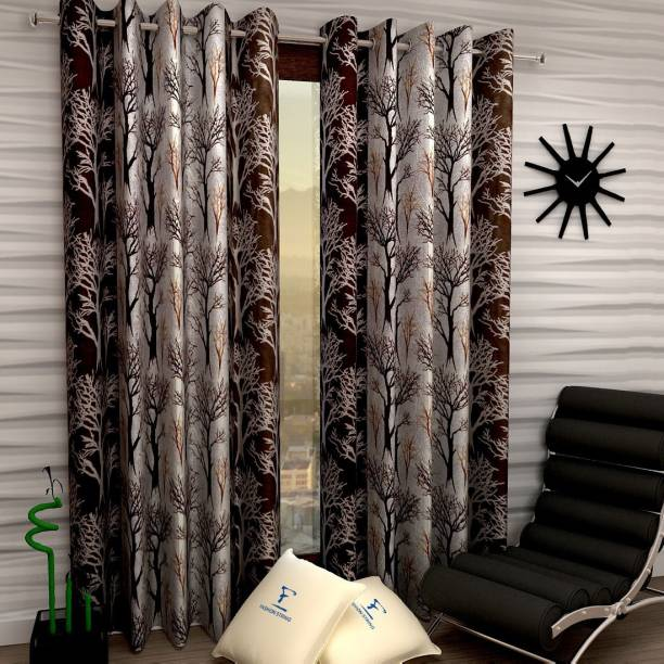 Fashion String 213 cm (7 ft) Polyester Door Curtain (Pack Of 2)