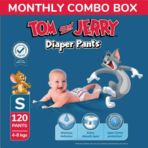 TOM & JERRY Diaper Pants with Wetness Indicator - Monthly Pack - S
