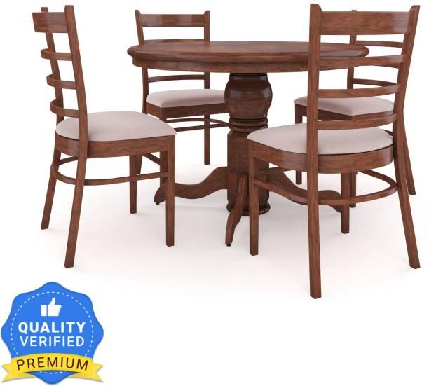 RoyalOak COCO Solid Wood 4 Seater Dining Set
