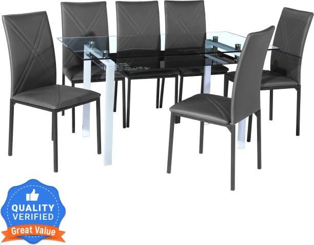 Flipkart Perfect Homes Luzon Metal 6 Seater Dining Set