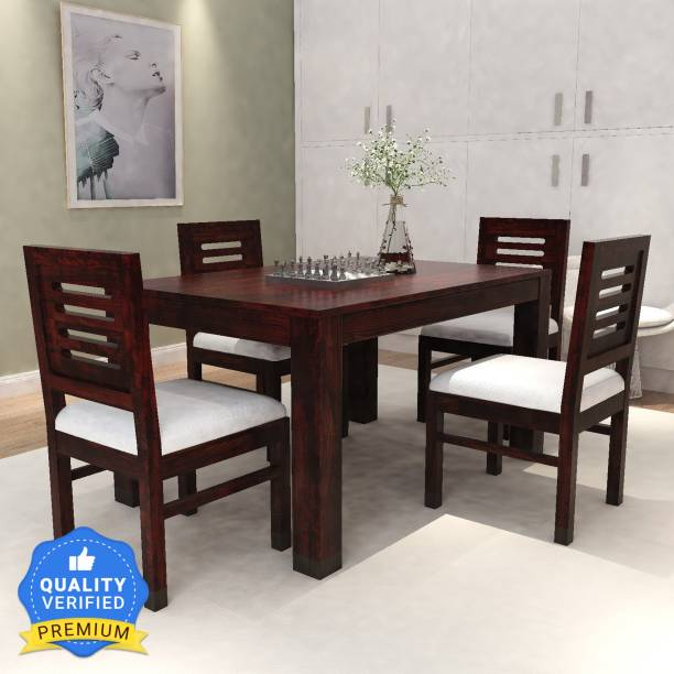 Allie Wood Solid Wood 4 Seater Dining Set