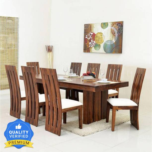 Kendalwood Furniture Primum Quality Dining Table and 8 chair with Cushions Solid Wood 8 Seater Dining Set