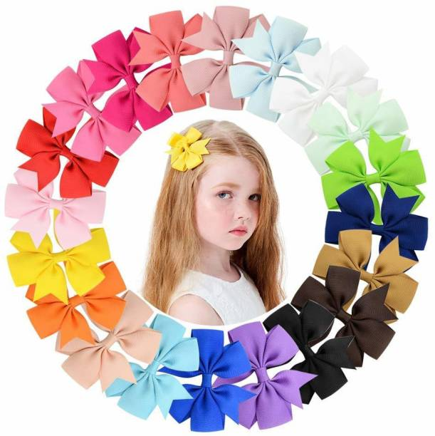 PALAY Grosgrain Ribbon Baby Girls Hair Bows Alligator Clips Hair Accessories for Infants Toddlers Kids Teens Hair Clip