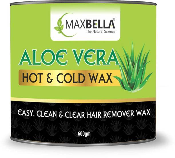 MaxBella Aloe Vera Hot & Cold Wax | Hair Removal Wax For Arms, Chest, Legs, Back, and Full Body | For Men & Women |All Skin Types | Paraben & Sulphate Free Wax