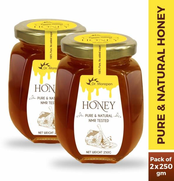 Dr. Morepen Natural & Pure Honey NMR Tested & No Sugar Adulteration Pack of 2 - 250g Each