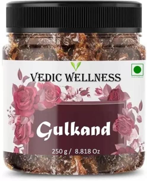 Vedik Wellness Natural Gulkand / Pushkar Raj Gulkand (jar packing) / Rose Petal Jam / Gulkand / Rose Jam 250 g