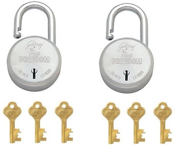 Godrej FREEDOM LOCK (3 BRASS KEYS) PACK OF 2 Padlock