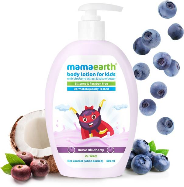 MamaEarth Brave Blueberry Body Lotion for Kids with Blueberry & Kokum Butter 400 ml