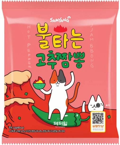 Samyang HOT PEPPER INSTANT JJAMBBONG RAMEN NOODLES , 234GM (PACK OF 2) Instant Noodles Non-vegetarian