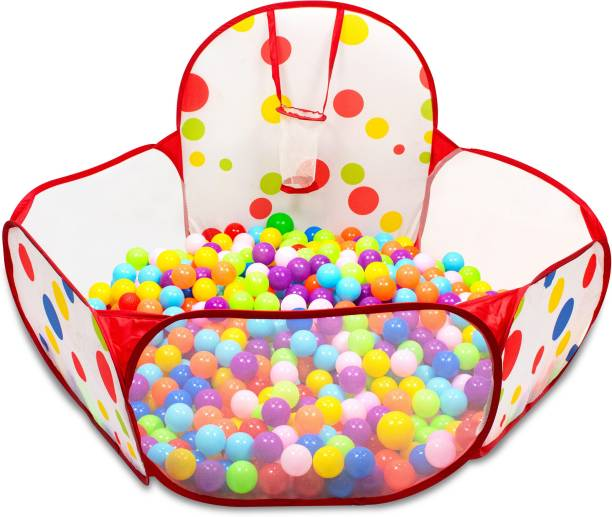 Miss & Chief Large Ball Pool with 50 Balls for Kids