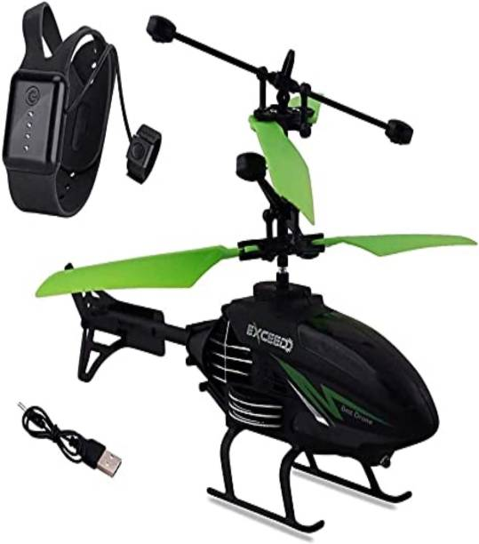 Pegaso Remote Control and Hand Sensor Helicopter with new Modern Remote, Pack of 1 - Multicolor   Helicopter Remote Control & Rechargeable Flying Unbreakable Helicopter Toys for Kids (Multicolor)