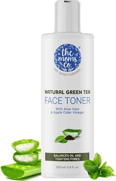 The Moms Co. Natural Green Tea Face Toner l Controls Sebum l Fights Acne l Tightens Pores l Hydrates & Soothes l Aloe Vera & Cucumber Men & Women