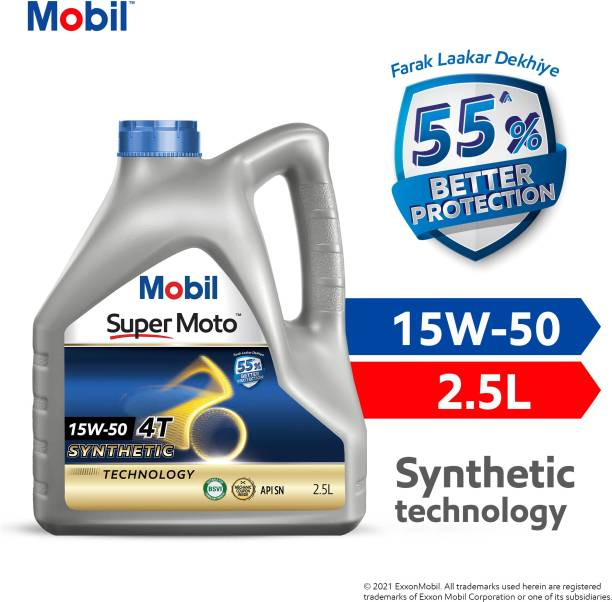 MOBIL 15W-50 Synthetic Blend Engine Oil