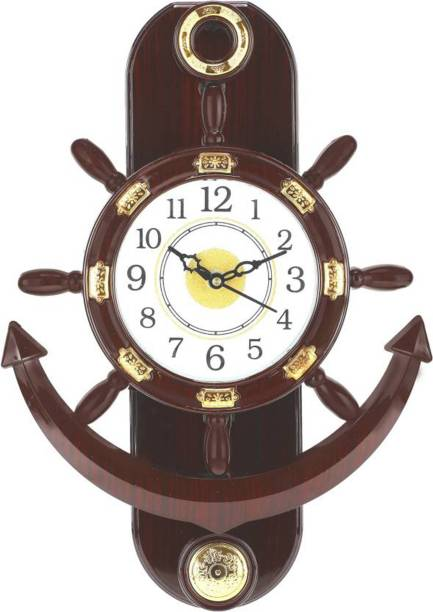 GrabBasket Analog 38 cm X 26 cm Wall Clock