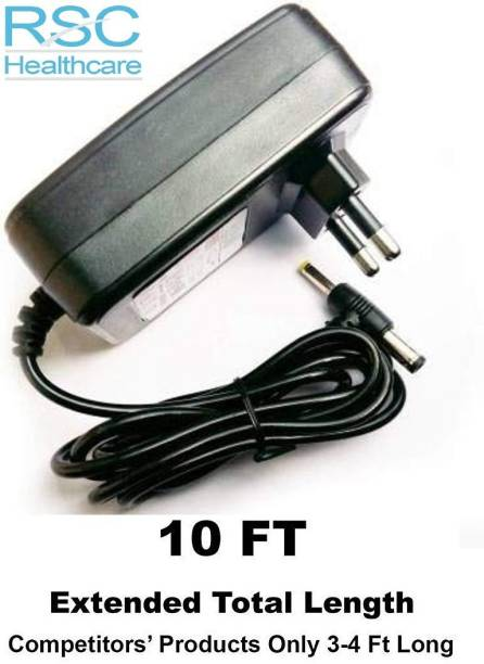 rsc healthcare rsc-001 6 Volt 1 Amp High Quality Power adapter for BP Monitor Machine Worldwide Adaptor 6V AC/DC 1.0 AMP. Power Supply Adapter for Omron Health Care,Dr. morepen B.P, & BPL B3+ BP pper Arm Blood Pressure Monitor [Dual Pin Size 2.1mm & 2.5mm] [Multi Purpose] BP Machine Adapter Bp Monitor Adapter