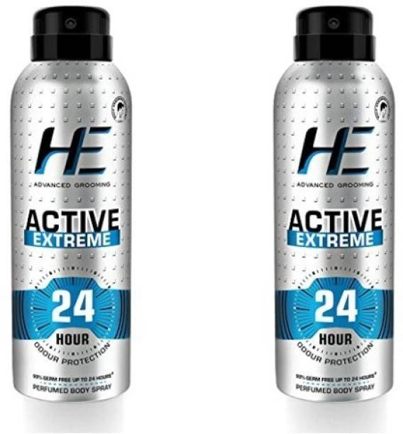 HE Advanced Grooming Active Extreme 24 Hour Odour Protection (150ml each) Deodorant Spray  -  For Men & Women