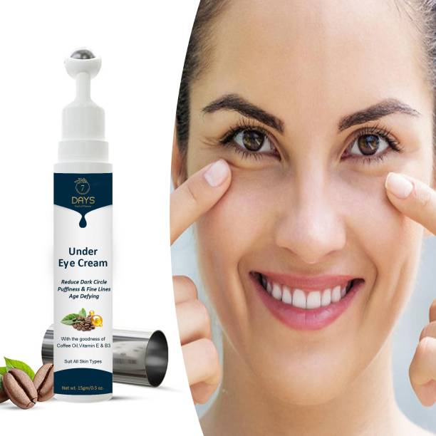 7 Days Natural Vita Rich Under Eye Cream to Reduce Dark Circles, Puffiness and Fine Lines with Chia Seed Oil, Coffee Oil, Vitamines E & B3