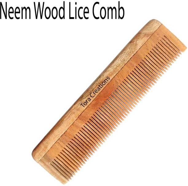 Tora Creations Neem Wood Thin Tooth Comb