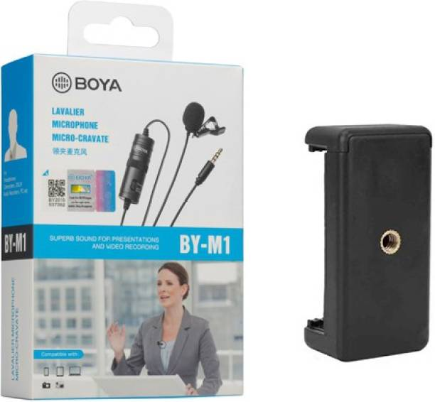 BOYA BY-M1 Omnidirectional With Mount 2 Condenser Camera Mic 20ft Audio Cable Microphone