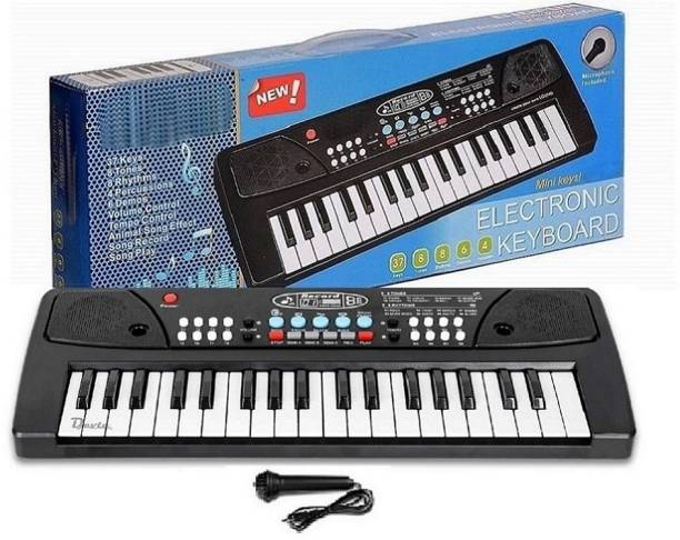 Hevonte 37 Key Piano Keyboard Toy for Kids with Mic Dc Power Option Recording Charger not Included Best Birthday Gift for Boys and Girls Musical Instruments Keyboard Music 37 Key Piano Keyboard Toy Analog Portable Keyboard Latest Piano Analog Portable Keyboard