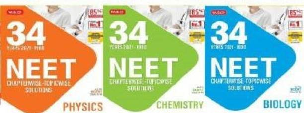 34 Years NEET-AIPMT Chapterwise Solutions -Physics, Chemistry, Biology 2021