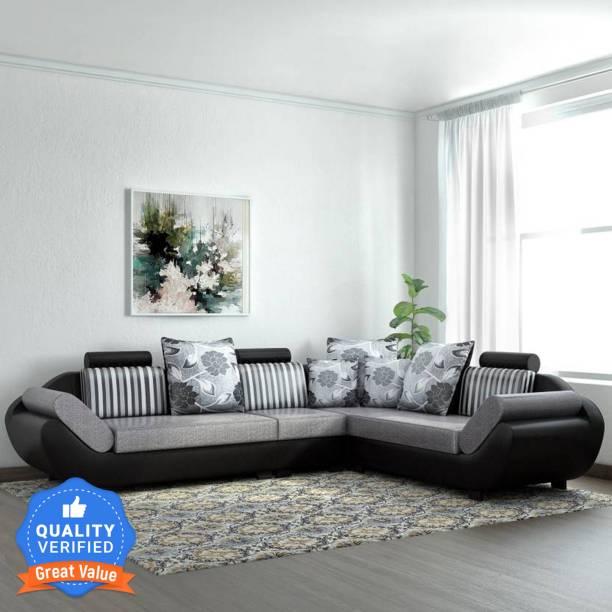 Flipkart Perfect Homes Alora Fabric 6 Seater  Sofa