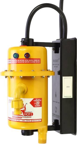 Mr.SHOT 1 L Instant Water Geyser (Prime, Orange)