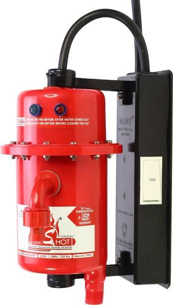 Mr.SHOT 1 L Instant Water Geyser (Prime, Red)