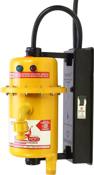 Mr.SHOT 1 L Instant Water Geyser (MAX-01-OMR, Yellow)