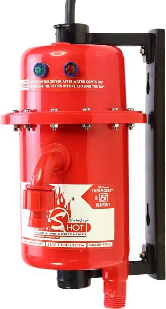 Mr.SHOT 1 L Instant Water Geyser (Essential, Red)