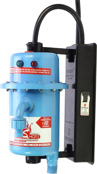 Mr.SHOT 1 L Instant Water Geyser (Mr.SHOT MAX, Blue)