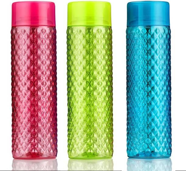 Flipkart SmartBuy Crystal Pattern Plastic Fridge Bottle 1000 ml Bottle