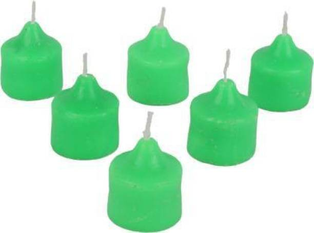 Fitness India Diwali Candles tealight Decorate for Diwali Diya for puja Diwali Home Decoration Light Candle (Green, Pack of 6) Candle