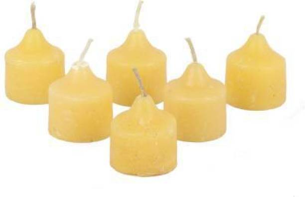 Fitness India Diwali Candles tealight Decorate for Diwali Diya for puja Diwali Home Decoration Light Candle (Yellow, Pack of 6) Candle