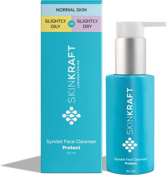 Skinkraft Syndet Face Cleanser - Face Wash For Normal to Oily and Normal to Dry Skin