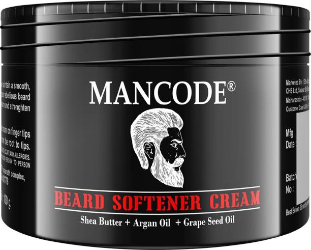 MANCODE Beard and Mustache Softner cram for men| Nourishes with Goodness of Shea Butter, Argan Oil and Grape Seed Oil, 100gm Beard Cream