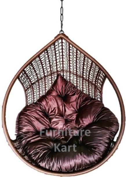 Furniture kart Swing Chair Coffee Brown Royal Steel Large Swing